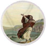 Demosthenes, 384-322 B.c. Round Beach Towel
