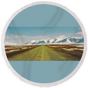 Dempster Highway - Yukon Round Beach Towel