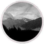 Denali National Park 1  Round Beach Towel