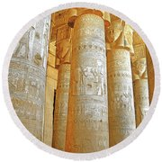 Dendera Temple Round Beach Towel