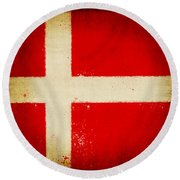 Denmark Flag Round Beach Towel
