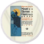 Denslows Night Before Christmas By Clement Moore Lld 1902 Round Beach Towel