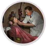 Dentist - Making An Impression - 1936 Round Beach Towel