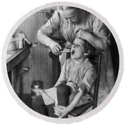 Dentistry, 1920s - To License For Professional Use Visit Granger.com Round Beach Towel