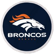 Denver Broncos Nfl Round Beach Towel