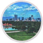 Denver City Park Round Beach Towel
