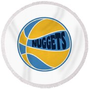 Denver Nuggets Retro Shirt Round Beach Towel