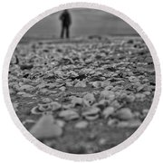 Departed Round Beach Towel