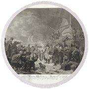 Departure Of Prince William V, 1795, Joannes Bemme, After Dirk Langendijk, After Christoffel Meijer, Round Beach Towel