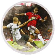Depay In Action Round Beach Towel