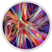 Depth And Color Round Beach Towel