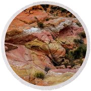 Depth Of The Canyon Round Beach Towel