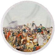 Derby Day Round Beach Towel