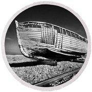 Derelict Boat Round Beach Towel