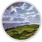 Derrynane National Park Along Ring Of Kerry, Ireland Round Beach Towel