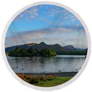 Derwentwater Spring Sunset Round Beach Towel