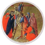 Descent From The Cross 1311 Round Beach Towel