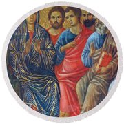 Descent Of The Holy Spirit Upon The Apostles Fragment 1311 Round Beach Towel