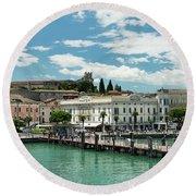 Desenzano Del Garda Lake Garda Italy Round Beach Towel