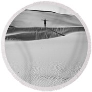 Desert Austerity Round Beach Towel