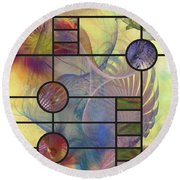 Desert Blossoms - Square Version Round Beach Towel