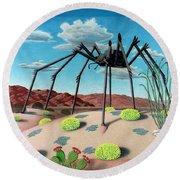 Desert Bug Round Beach Towel by Snake Jagger