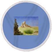 Desert Butte Round Beach Towel