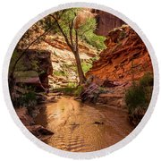 Desert Canyon Paradise - Coyote Gulch - Utah Round Beach Towel