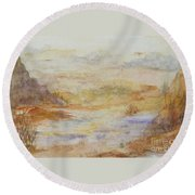 Desert Canyon  Round Beach Towel