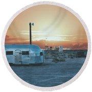 Desert Caravan Round Beach Towel