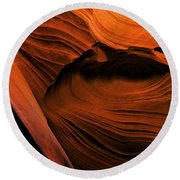 Desert Carvings Round Beach Towel