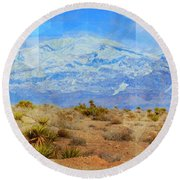 Desert Contrasts Round Beach Towel by Michelle Dallocchio