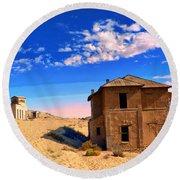 Desert Dreamscape 2 Round Beach Towel