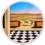 Desert Dreamscape Round Beach Towel