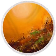 Hot Desert  Evening  Round Beach Towel
