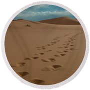 Desert Exploration Round Beach Towel