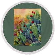 Desert Gems 2 Round Beach Towel