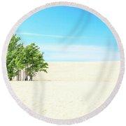Desert Green Trees Round Beach Towel