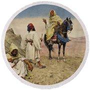 Desert Nomads Round Beach Towel