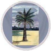 Desert Palm 2 Round Beach Towel