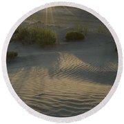 Desert Rays Round Beach Towel