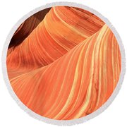 Desert Sandstone Waves Round Beach Towel