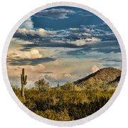 Desert Sky - San Tan Arizona Round Beach Towel