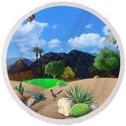 Desert Splendor Round Beach Towel