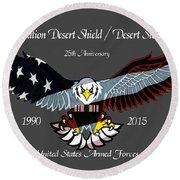 Desert Storm 25th Anniversary Round Beach Towel