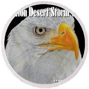 Desert Storm Eagle Round Beach Towel