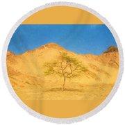 Desert Tree Round Beach Towel