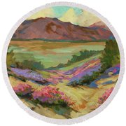 Desert Verbena At Borrego Springs Round Beach Towel