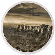 Desert View - Anselized Round Beach Towel
