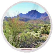 Desert View Round Beach Towel
